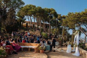 Boda Michelle & Bradley exterior altar | Manel Tamayo wedding photographer