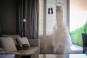 Boda Nuria & David vestido novia foto   Manel Tamayo wedding photographer
